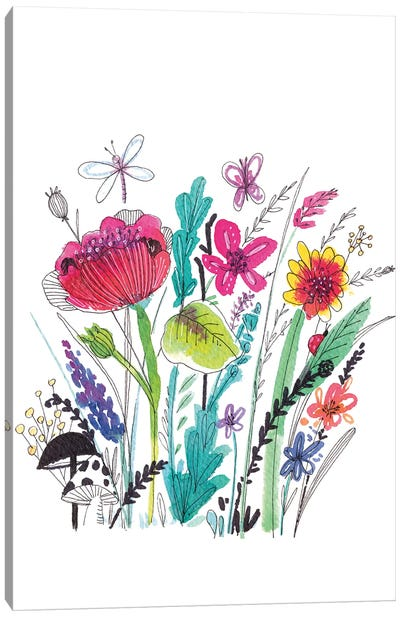 Free Floral III Canvas Art Print