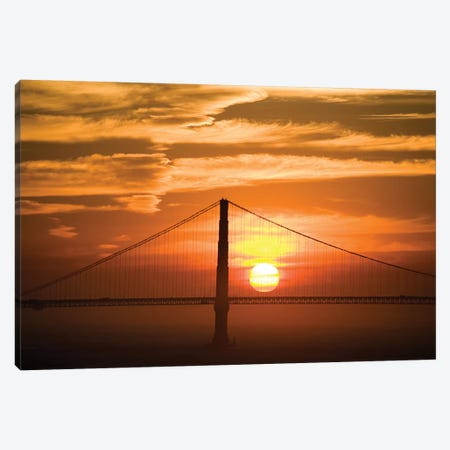 Golden Gate Bridge At Sunset, San Francisco, California, USA Canvas Print #LHO1} by Lisa Hoffner Canvas Art