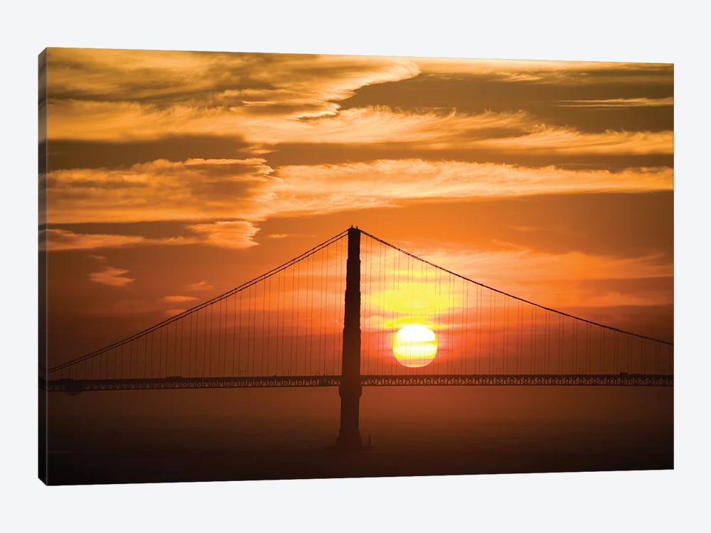 Golden Gate Bridge At Sunset, San Francisco, California, USA by Lisa Hoffner 1-piece Canvas Art Print