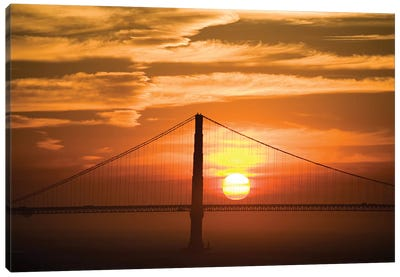 Golden Gate Bridge At Sunset, San Francisco, California, USA Canvas Art Print
