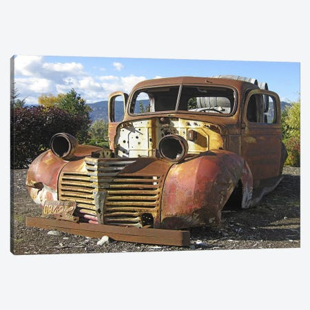 Old Wine Truck Canvas Print #LHR11} by Larry Hunter Canvas Artwork