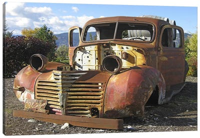 Old Wine Truck Canvas Print #LHR11