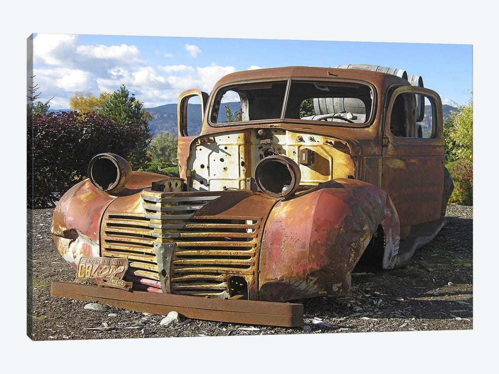 Old Wine Truck by Larry Hunter 1-piece Art Print