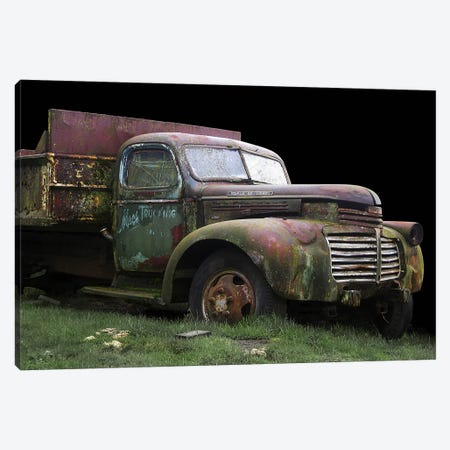 Mac's Trucking GMC Canvas Print #LHR13} by Larry Hunter Canvas Wall Art