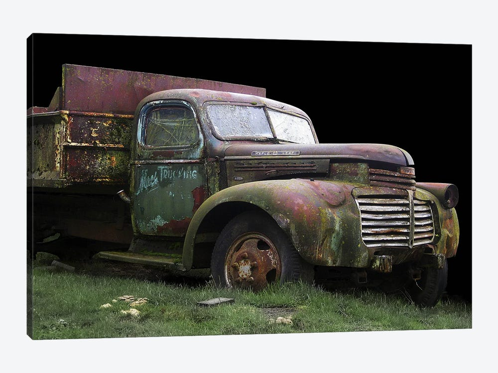 Mac's Trucking GMC by Larry Hunter 1-piece Canvas Print