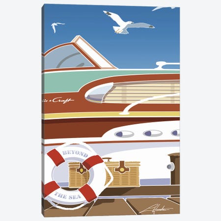 Beyond The Sea Canvas Print #LHR14} by Larry Hunter Canvas Art Print