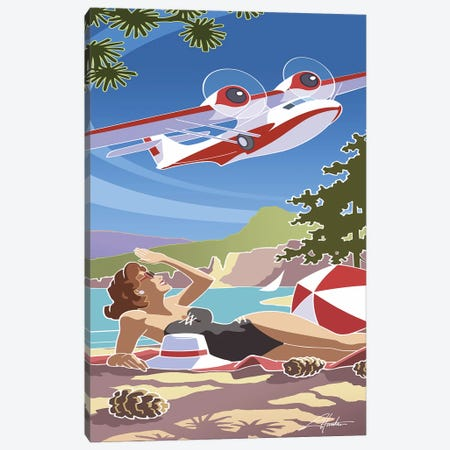 Catalina Canvas Print #LHR15} by Larry Hunter Canvas Art Print