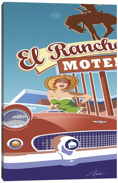 El Rancho Canvas Art Print