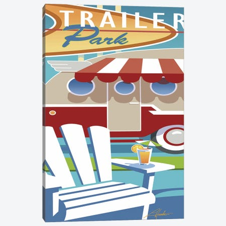 Trailer Park Canvas Print #LHR19} by Larry Hunter Canvas Artwork