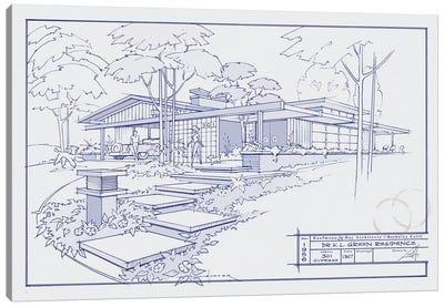 301 Cypress Dr. Blueprint Canvas Print #LHR22
