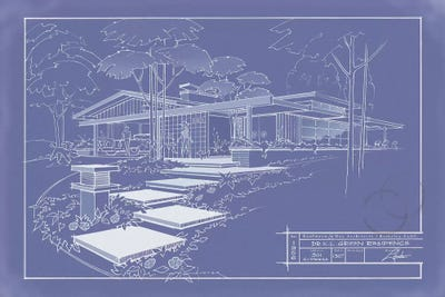 301 cypress dr blueprint inverse canvas wall art by larry hunter canvas malvernweather Images
