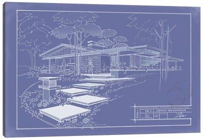 301 Cypress Dr. Blueprint Inverse Canvas Art Print