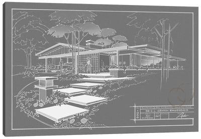 301 Cypress Dr. Grayline Inverse Canvas Print #LHR24