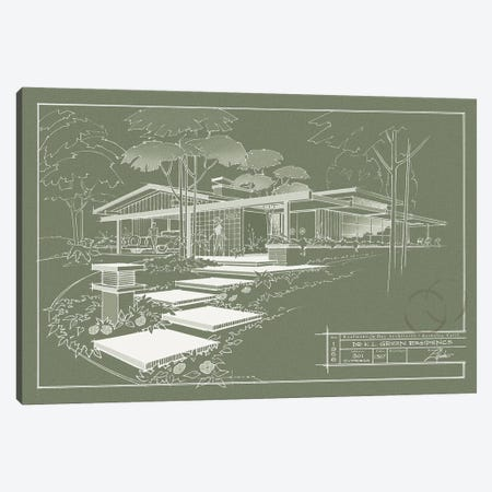 301 Cypress Dr. Moss Inverse Canvas Print #LHR25} by Larry Hunter Canvas Artwork
