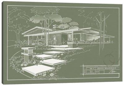 301 Cypress Dr. Moss Inverse Canvas Art Print