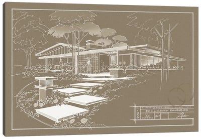 301 Cypress Dr. Sepia Inverse Canvas Print #LHR26