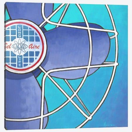 Bel Aire Fan Aqua Canvas Print #LHR27} by Larry Hunter Canvas Art