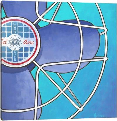 Bel Aire Fan Aqua Canvas Art Print
