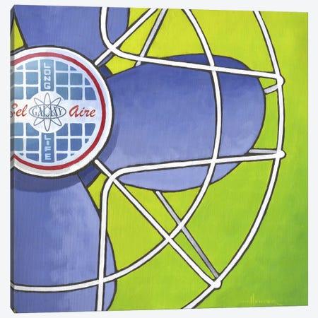 Bel Aire Fan Green Canvas Print #LHR28} by Larry Hunter Canvas Art Print