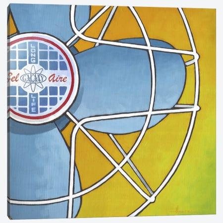 Bel Aire Fan Orange Canvas Print #LHR29} by Larry Hunter Art Print