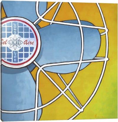 Bel Aire Fan Orange Canvas Art Print