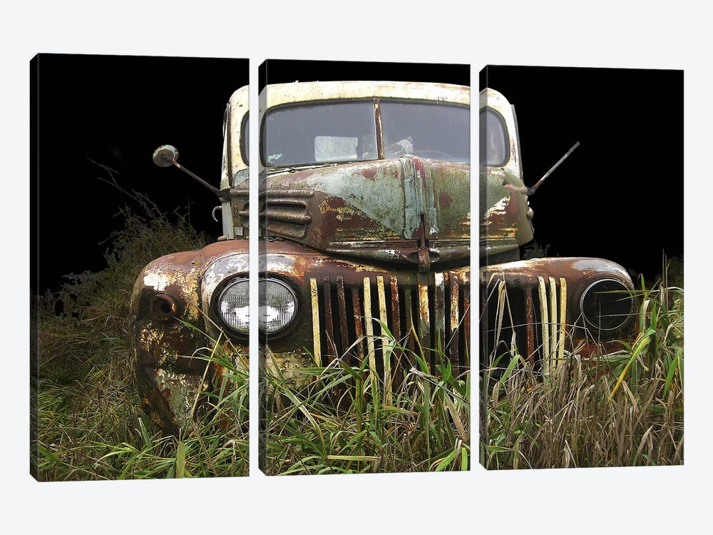 1947 Ford by Larry Hunter 3-piece Canvas Print