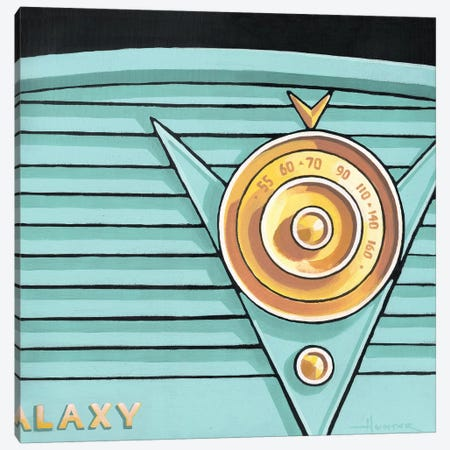 Galaxy Radio Aqua Canvas Print #LHR36} by Larry Hunter Art Print