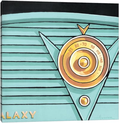 Galaxy Radio Aqua Canvas Art Print