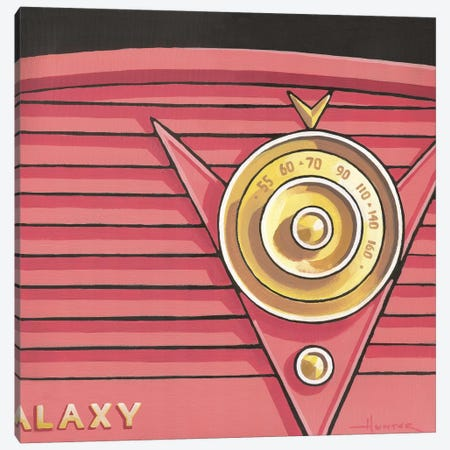 Galaxy Radio Coral Canvas Print #LHR37} by Larry Hunter Art Print