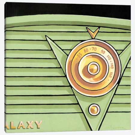 Galaxy Radio Green Canvas Print #LHR38} by Larry Hunter Canvas Artwork