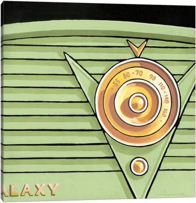 Galaxy Radio Green Canvas Art Print