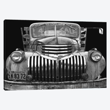 Chev 4 Sale Black and White Canvas Print #LHR3} by Larry Hunter Canvas Wall Art