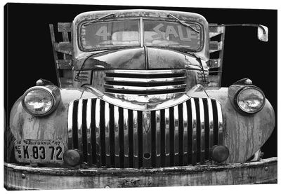 Chev 4 Sale Black and White Canvas Print #LHR3