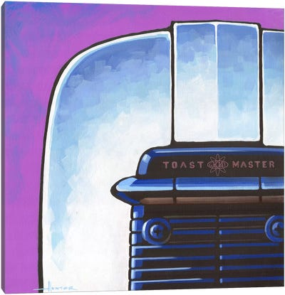 Galaxy Toaster Purple Canvas Art Print