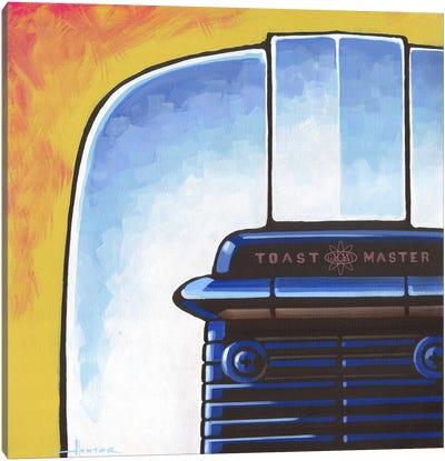Galaxy Toaster Yellow Canvas Art Print