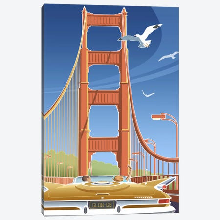 Golden Gate Canvas Print #LHR44} by Larry Hunter Canvas Wall Art