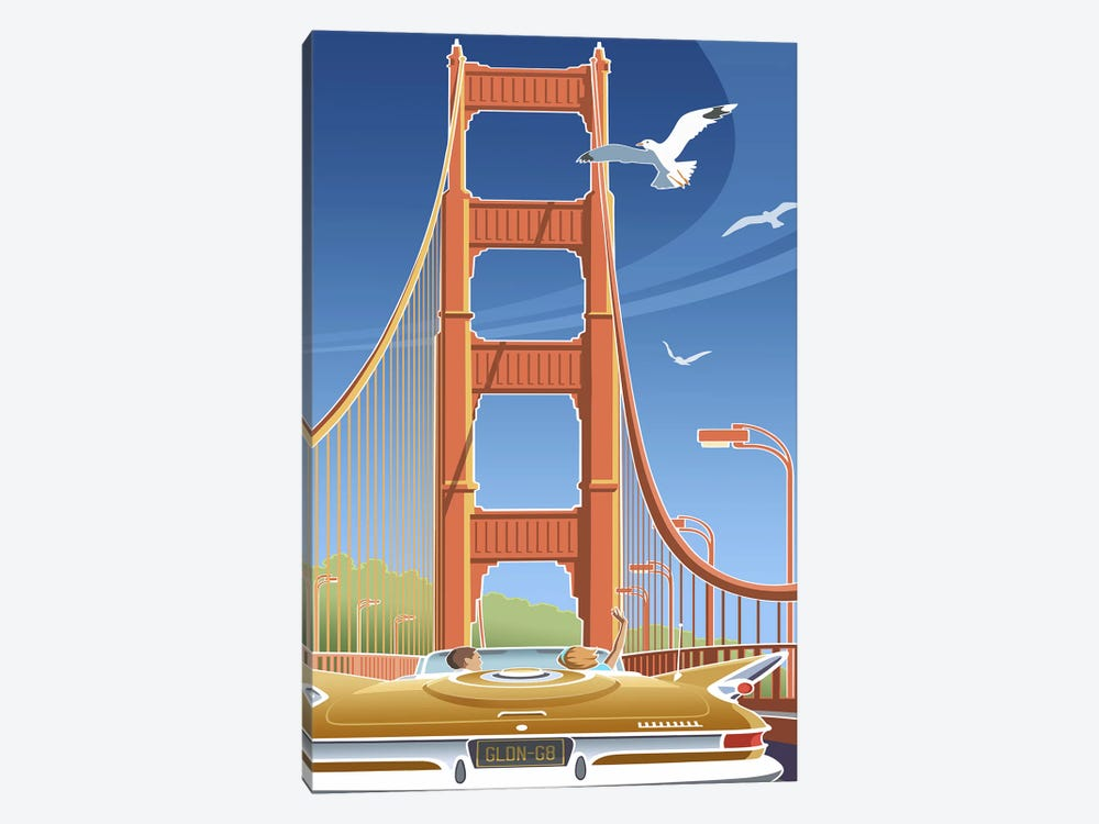 Golden Gate by Larry Hunter 1-piece Canvas Print