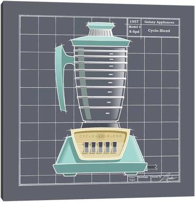 Galaxy Blender Aqua Canvas Art Print