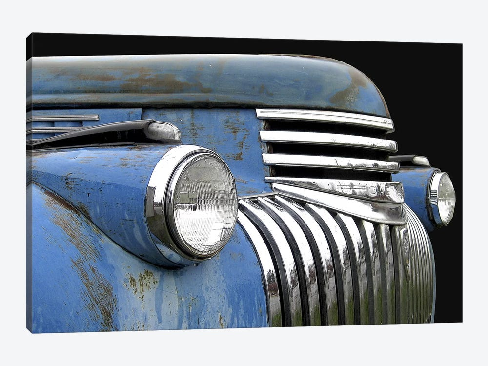 Chevy Grill Blue by Larry Hunter 1-piece Art Print