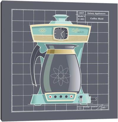 Galaxy Coffeemaid Aqua Canvas Art Print