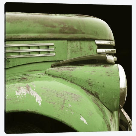 Chevy Streamline Apple Green Canvas Print #LHR5} by Larry Hunter Canvas Print