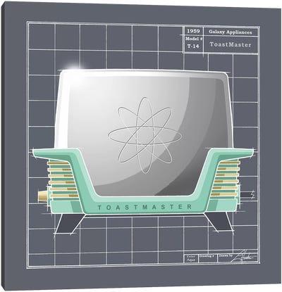 Galaxy Toaster Aqua Canvas Art Print