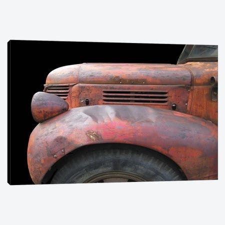 Fargo Red Canvas Print #LHR6} by Larry Hunter Canvas Art Print