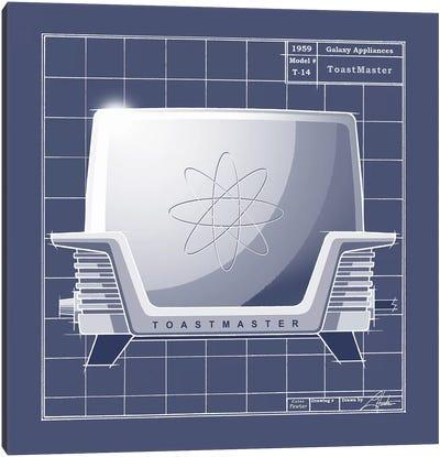 Galaxy Toaster Blueprint Canvas Art Print