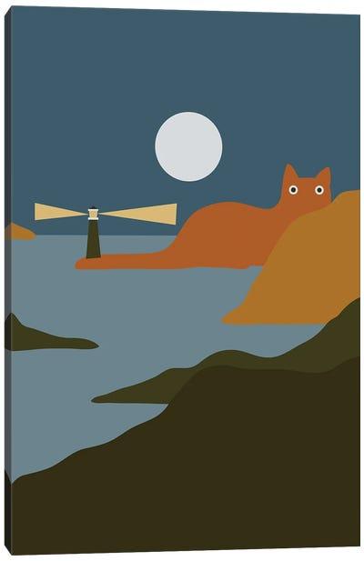 Cat Landscape XX Canvas Art Print