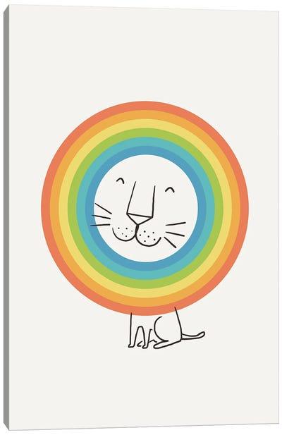 A Happy Lion Canvas Art Print