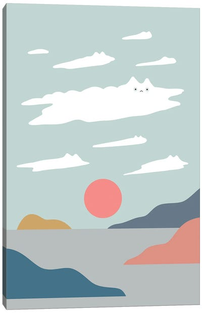 Cat Landscape XXIII Canvas Art Print
