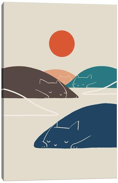 Cat Landscape I Canvas Art Print
