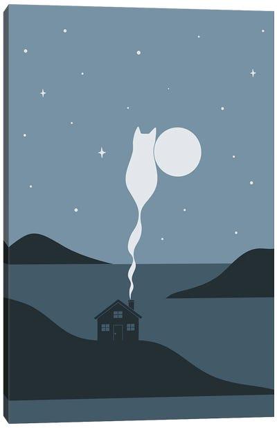 Cat Landscape XLV Canvas Art Print