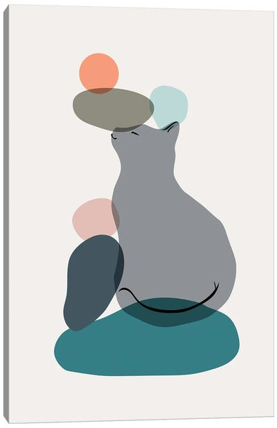 Cat Landscape LIX Canvas Art Print